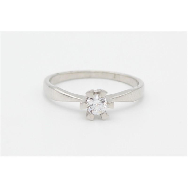 Zirkonia sølv ring - 5 mm