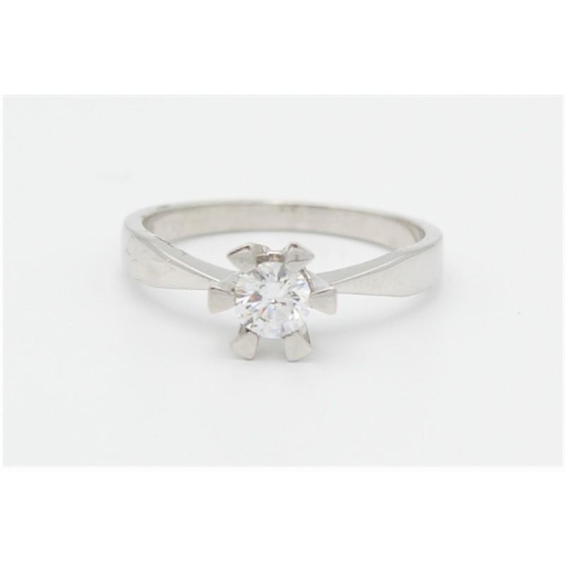 Zirkonia sølv ring - 5,5 mm