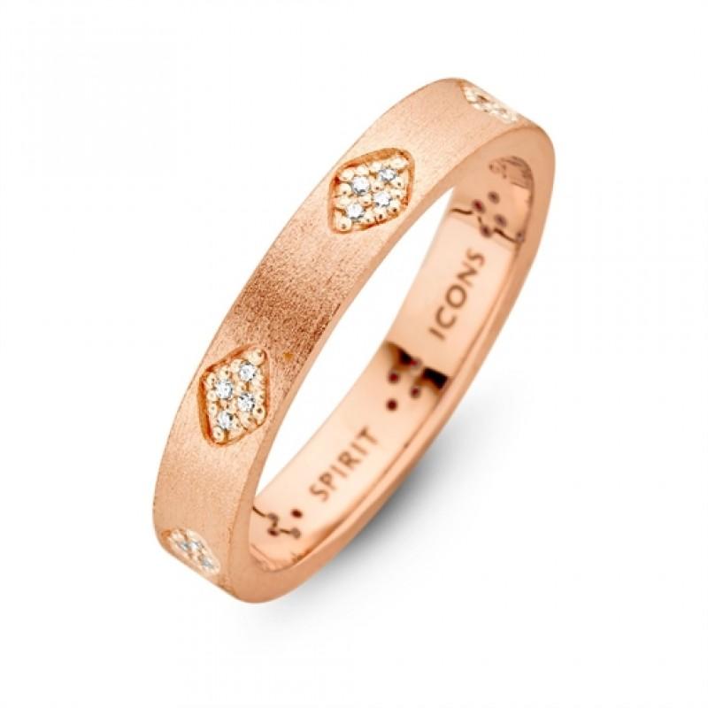 Shine ring rosa forgyldt
