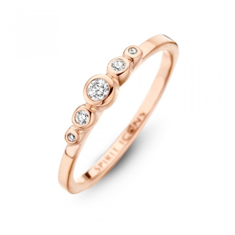 Temptation ring, rosa forgyldt