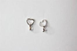 Ørehængere i sølv med 2 hjerter-20