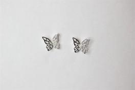 Sølv ørestikker med sommerfugl-20