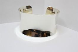 Bred sølv armring, åben-20