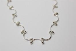 Sølv halskæde med halv cirkler-20