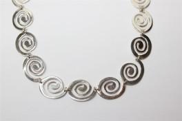 Sølv halskæde med spiraler-20