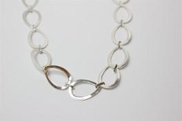 Sølv halskæde med dråber-20