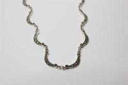 Sølv halskæde med marcasitter-20