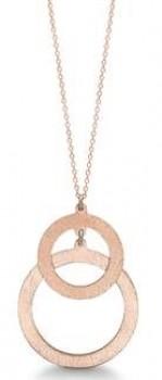 rosa forgyldt halskæde med cirkler-20