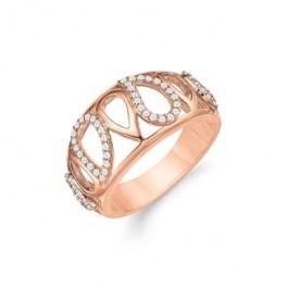 AAGAARD rosa forgyldt ring med mønster-20