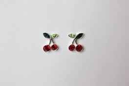 Sølv ørestikker med kirsebær-20