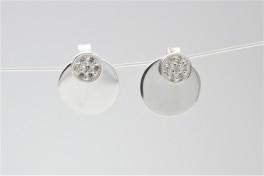 Sølv ørehængere med cirkler og zirk.-20