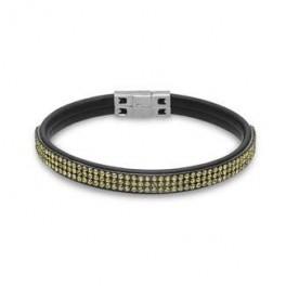 AAGAARD læder armbånd med grønne syn. sten-20