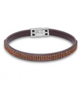 AAGAARD læder armbånd med brune syn. sten-20