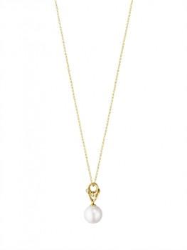 MAGIC halskæde med perle rødguld-20