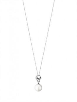 MAGIC halskæde med perle hvidguld-20