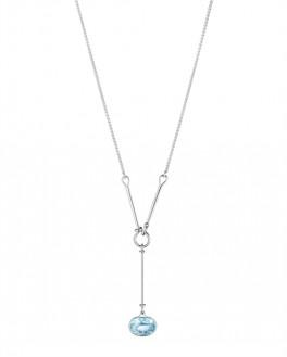SAVANNAH halskæde 628A med blå topaz-20