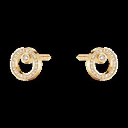 Halo ørestik paveret diamant-20