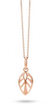 Leaf Necklace 50 cm rosa-20