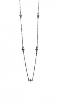Block halskæde 90 cm sort-20
