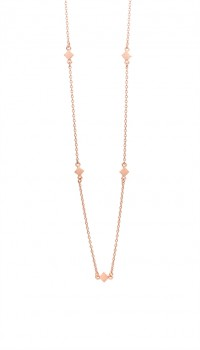 Block halskæde 45 cm rosa-20