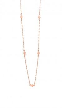 Block halskæde 90 cm rosa-20