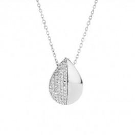 Drop sølv halskæde-20
