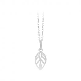 Leaf Necklace 50 cm sølv-20