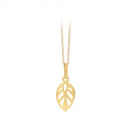 Leaf Necklace 50 cm forgyldt-20