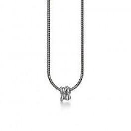 Aagaard halskæde i sølv, med snoet vedhæng-20