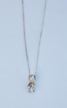 AAGAARD sølv halskæde med syn. zirk.-20
