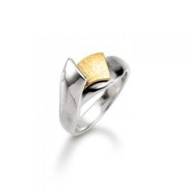 AAGAARD sølv og guld ring-20