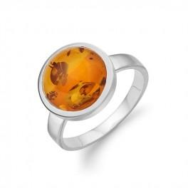 AAGAARD sølv ring med rav-20