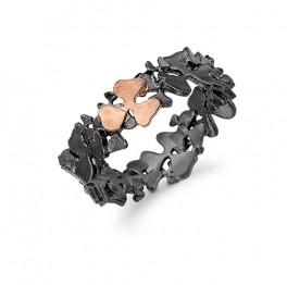 AAGAARD sort rhod. ring med blomster-20