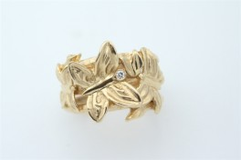 14 kt rødguld ring, sommerfugle-20