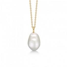 Teardrop med lille barok perle-20