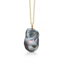 Teardrop med grå barok perle-20