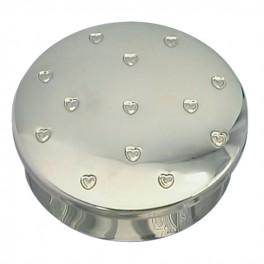 Smykkeskrin, rund m. små hjerte-20