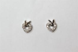 Sølv ørestikker med hjerte og kanin-20