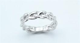 Braid ring, sølv-20