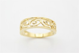 Flower 8 kt ring, brill.-20