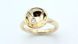 Circle Diamond 14 kt ring, stor-20