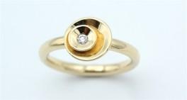 Circle Diamond 14 kt ring, lille-20