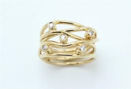 Lines Diamond 14 kt ring-20