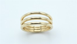 Lines 14 kt ring, blank-20