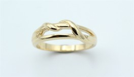 Braid 14 kt ring, swirl-20