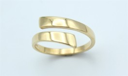 Twice 14 kt ring, blank-20