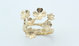 Flower 14 kt ring-20
