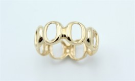 Circle 14 kt ring, rund-20