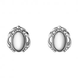 2020 HERITAGE øreclips, sølv sten-20