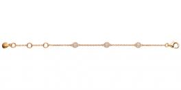 Grace Bracelet rosa forgyldt-20